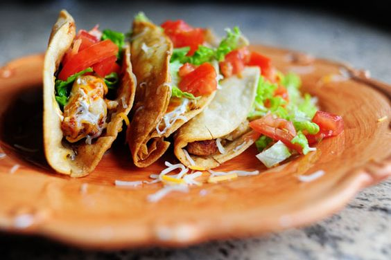 Chicken Tacos. A total mess to make and totally worth it.