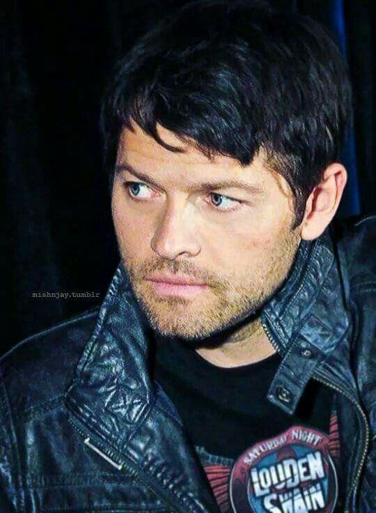 Misha and black leather