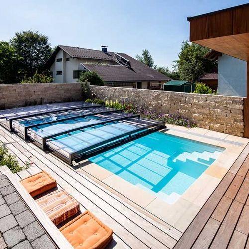 U3116 Ueberdachung Flach Ebr 07 Pool Water Pool Spa Lap Pools Swimming Pools Pool Designs Tapas Patios Ba Gartenpools Pooluberdachung Gartengestaltung