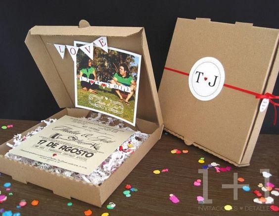 Invitación de boda original • wedding invitation • De venta en: www.facebook.com/1mas1detalles