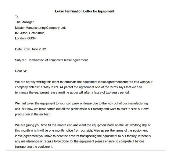 Early Lease Termination Letter - http\/\/wwwvalery-novoselskyorg - lease termination letter