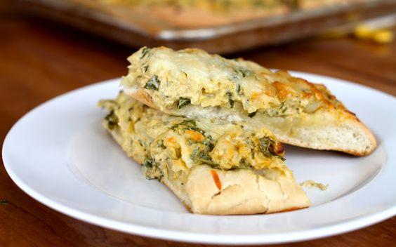 Cheesy Spinach Artichoke Breadsticks from Yammie's Noshery