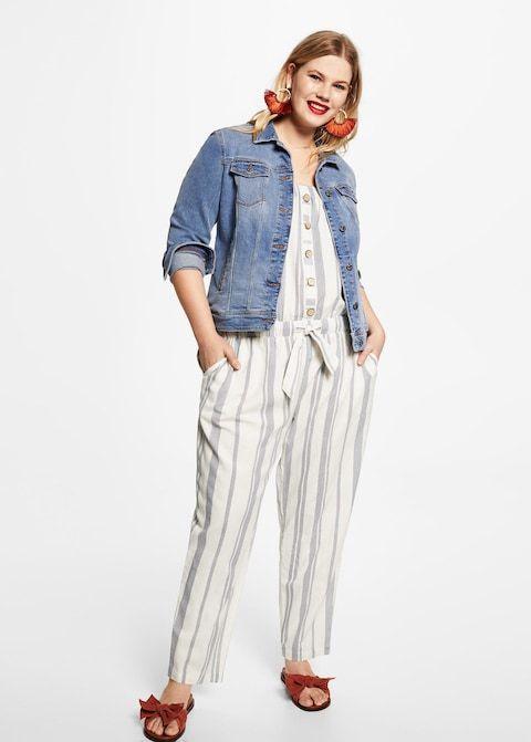 Combinaison-pantalon à rayures