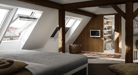 Dachausbau Ideen für Schlafzimmer VELUX Dachfenster Dachausbau - innendesign aus polen femininer note