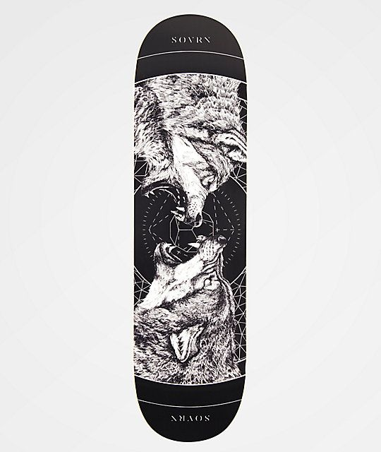 For Massive Pop And An Intimidating Graphic Look No Further Than The Sovrn Geri Freki Black 8 38 Skateboard Deck In 2020 Skateboard Decks Skateboard Thrasher Skate