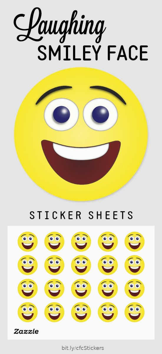 How To Make A Laughing Emoji : laughing, emoji, Laughing, Yellow, Smiley, Classic, Round, Sticker, Zazzle.com, Face,, Stickers,