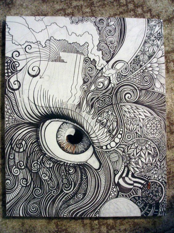 Pinterest the world s catalog of ideas for Doodle art faces
