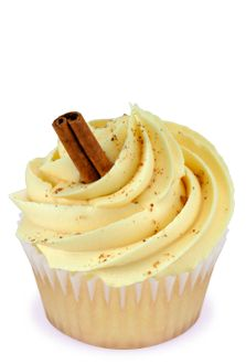Eggnog cupcakes.  Trying these when the season in here!