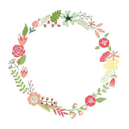 Resultado de imagen de coronas de flores dibujos