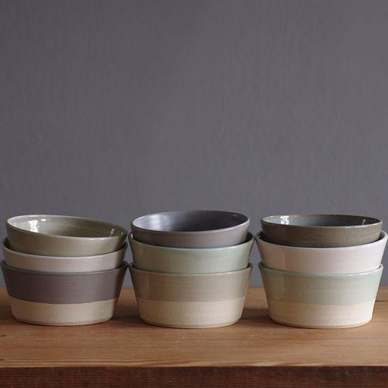 angled stoneware bowl simple modern handmade pottery modern dinnerware modern dish set - Modern Dinnerware