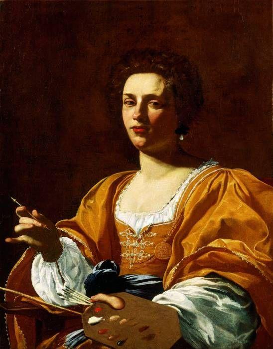 121-4-ARTISTE DELL'ITALIA DEL 500 E 600.-----------------------Le vicende di ARTEMISIA GENTILESCHI sono un esempio delle difficoltà affrontate dalle donne in una società impreparata a vederle uscire dagli schemi della tradizione.Suo padre,Orazio,era un buon pittore che avrebbe certamente potuto fornirle un solido tirocinio;e sulle donne nate,per così dire,in provincia per quanto riguarda l'arte,Artemisia aveva un altro vantaggio,quello di poter studiare per propio conto,a Roma,i più grandi m...: