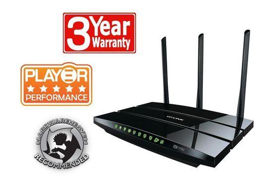 TP-LINK Archer C7 AC1750 Dual Band Wireless Gigabit Router 2.4GHz 5GHZ 1300Mbs…
