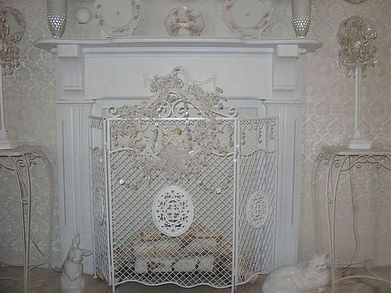 Hand painted furniture shabby chic and mantels on pinterest - Manteles shabby chic ...