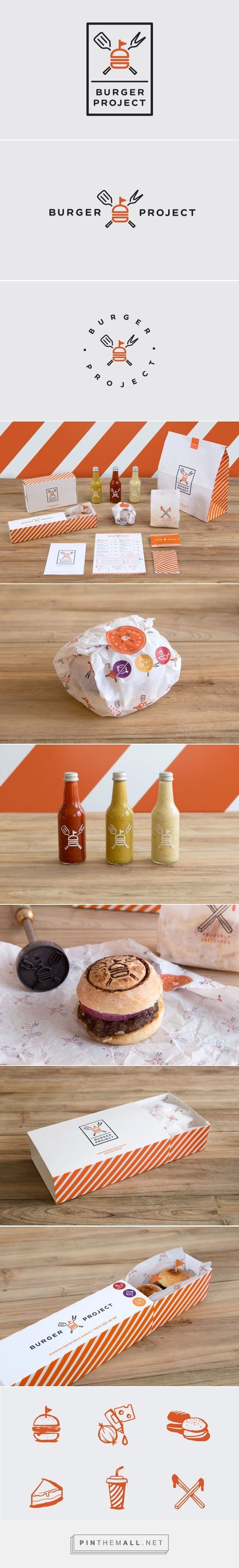 Burger Project on Behance identity packaging branding curated by Packaging Diva PD. Brand name 'Burger Project' reflects their mission and excitement to offer the best hamburgers possible