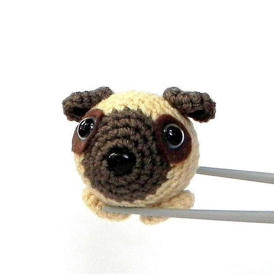 Pug, Amigurumi and Crochet on Pinterest