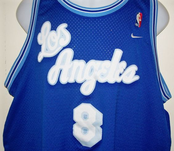 nbmrap Retro Kobe Bryant Nike Los Angeles L.A. Lakers Blue #8 NBA Jersey