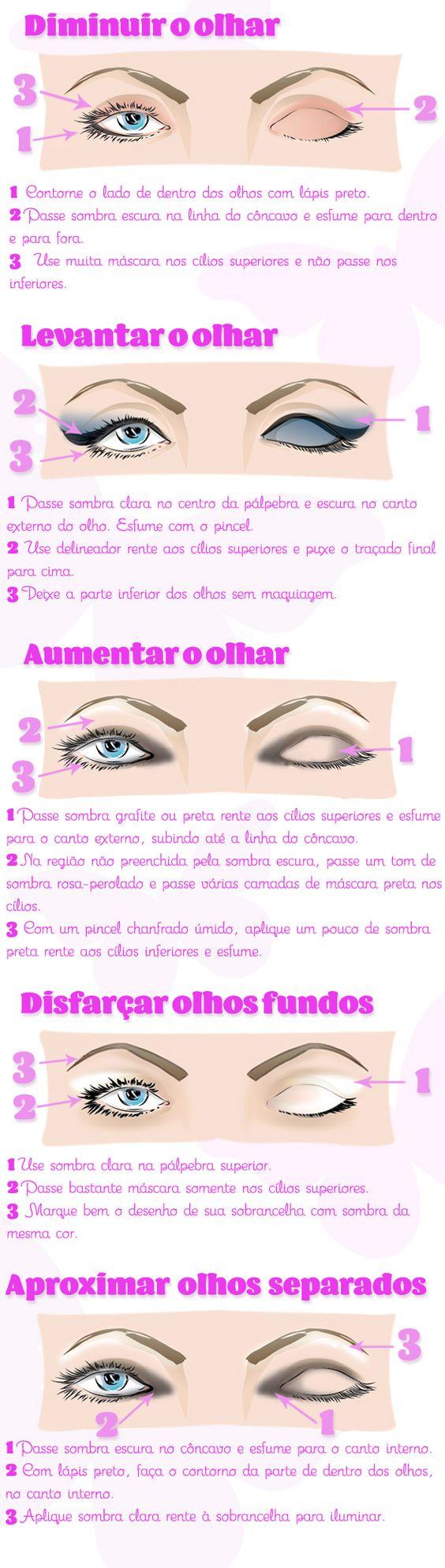 Ilustração com as dicas para disfarçar imperfeições com maquiagem: