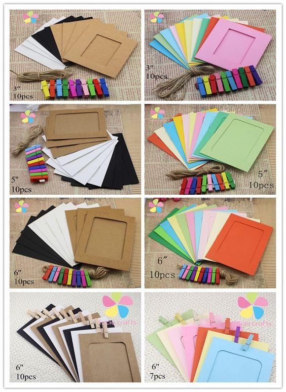 Mixed 3 cores Criativo kraft pendurado moldura de decoração para casa material…