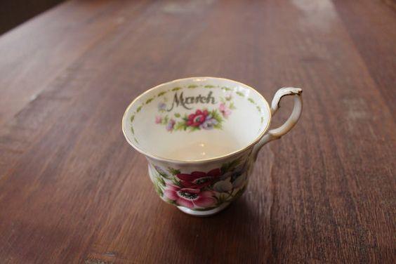Vintage Royal Albert Bone China Teacup England by maddoxandrose