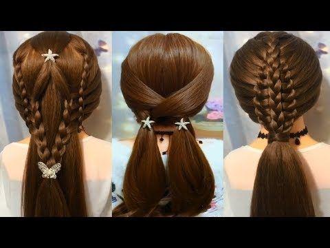 20 Peinados De Moda Peinados Faciles Y Rapidos Con Trenzas Peinados Cabello Peinados Rapidos Youtube Hair Styles Hair Beauty