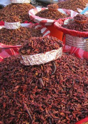 If you dare... try some spicy dried grasshoppers (Chapulines). A popular legend says that if you eat chapulines, you'll return to Oaxaca some day. It's certainly worth a try!
