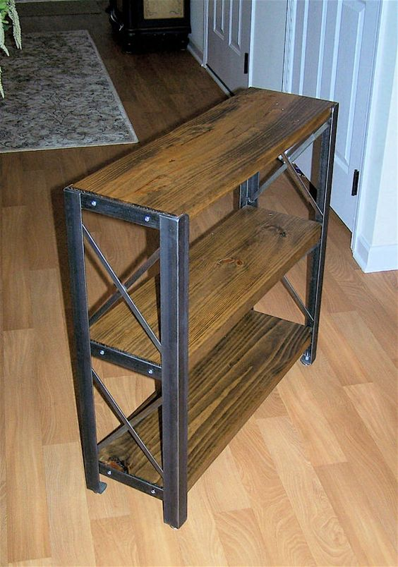 how to build a workbench using angle iron
