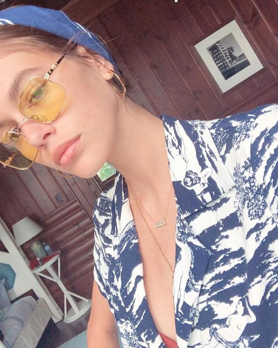Kaia Gerber Summer Style Vintage Sunnies #kaiagerber #summerstyle #style