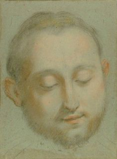 Federico Barocci (c.1535 - 1612) Study of a Man's Head, Collections: Western Art Drawings Collection: Browse - Ashmolean Museum