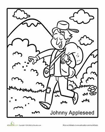 Pinterest The World S Catalog Of Ideas Johnny Appleseed Coloring Page