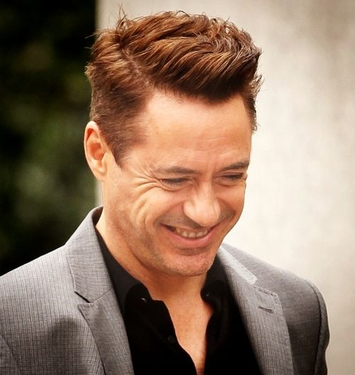 rock n roll hairstyles : Robert Downey Jr Hairstyle The Judge robert downey jr . filming