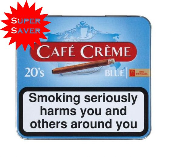 Henri Wintermans Cafe Creme Blue Small Cigarillos. (5 X 20 Cigarillos)