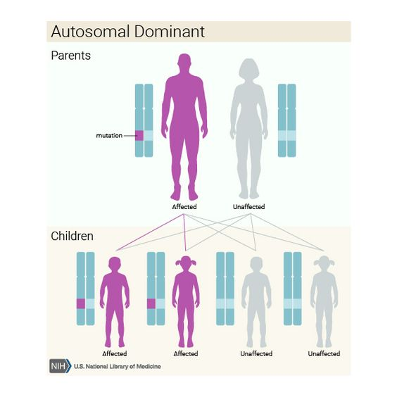 Autosomal dominant inheritance: