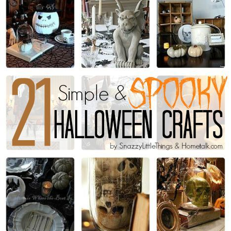 21 Simple & Spooky Halloween Crafts. With links to some of the most amazingly simple tutorials to pull off a spectacular Halloween display.