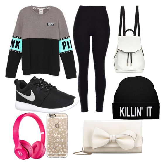 """High School Outfit #1"" by cl-burch on Polyvore featuring NIKE, rag & bone, Apple, Casetify and RED Valentino"