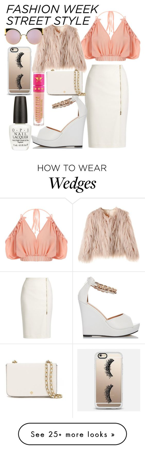 """#FUR #WHITE #SUBTLE"" by jana-jamieson on Polyvore featuring MaxMara, Tory Burch, Fendi, Casetify, Jeffree Star, OPI, StreetStyle and NYFW"