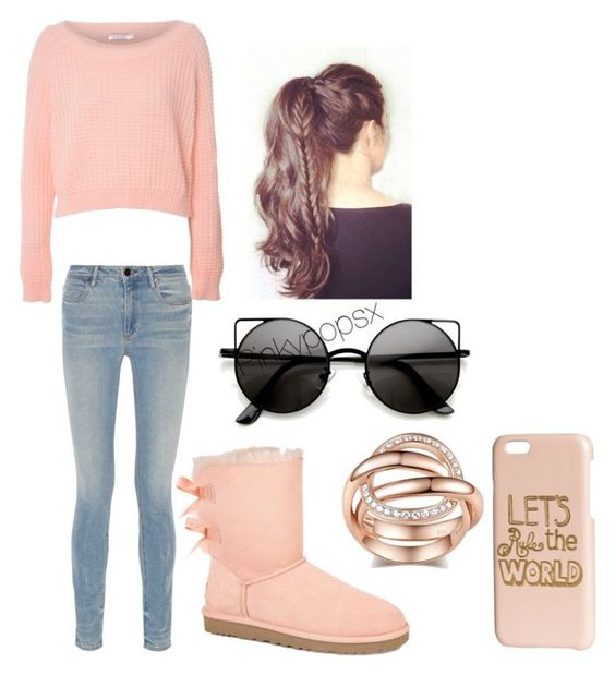 """""""Love Me"""" by pinkypopsx ❤ liked on Polyvore featuring UGG Australia, Glamorous, Alexander Wang and H&M"""