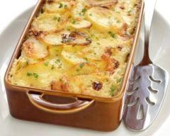 Gratin de pommes de terre aux poireaux facile (rapide) - Une recette CuisineAZ