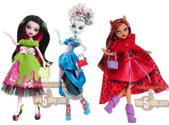 Scary Tales! I am buying all three. Well I only want Little Dead Riding Hood cuz the outfit is cute. Will sell the wolfy.