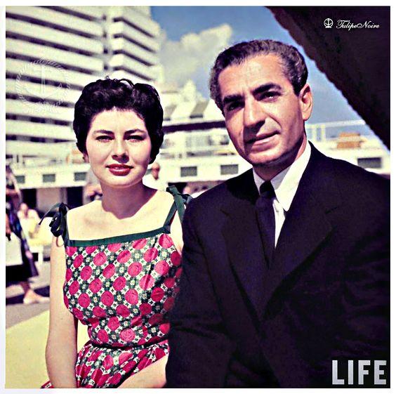 Mohamed Reza Pahlavi Empress Soraya At San Souci Hotel - Miami Beach 1955