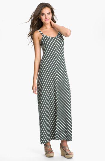Allen Allen Stripe Knit Maxi Dress (Petite) | Nordstrom