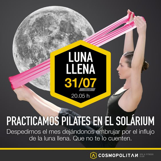 Déjate llevar por el influencia de la luna llena en nuestra sesión de #pilates