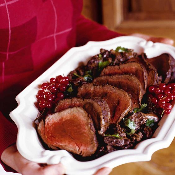 Roast Beef Tenderloin with Morel Cream Sauce | Food & Wine ; This luxurious oven-roasted beef tenderloin is a super sophisticated and easy holiday main course—it takes only one hour to prepare from start to finish.