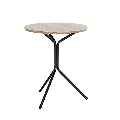 Xiaolin Table Balcony Small Round Table Solid Wood Sofa Side Table Iron Leg Living Room Coffee Table 23 7 Sofa Side Table Coffee Table Living Room Coffee Table