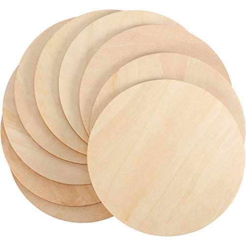 "12 pieces Large 3/"" Wood Circles Discs for Unfinished Wood Crafts"