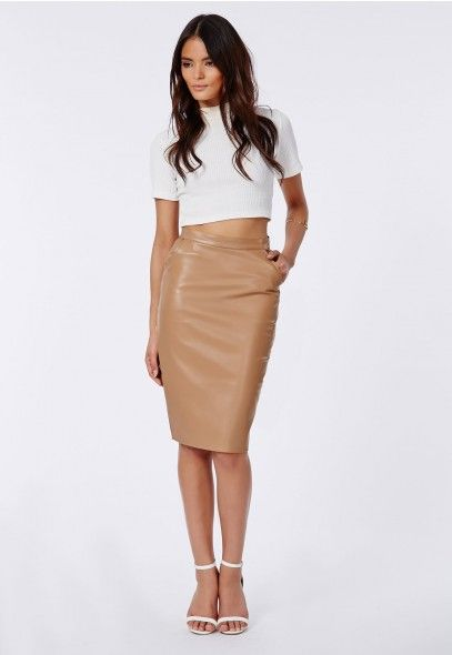 Leather Skirt Tan - Redskirtz