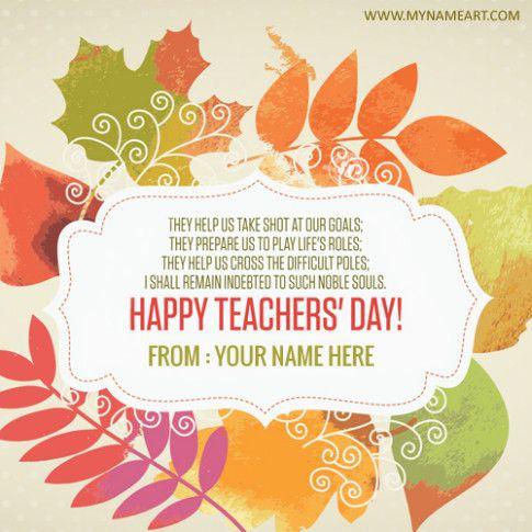 Teachers Day Wish Card Teachers Day Wishes Teachers Day Card Happy Teachers Day Card