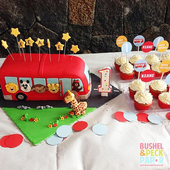 Wheels on the Bus Party Birthday Party Ideas   Photo 2 of 10   Catch My Party