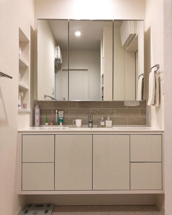 ステムズミラーボックスled ミラーキャビネット ミラーボックス 洗面鏡 サンワカンパニー ミラーキャビネット 洗面鏡 造作 洗面台