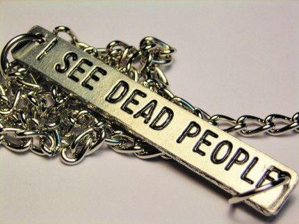 I See Dead People Statement Platform Necklace