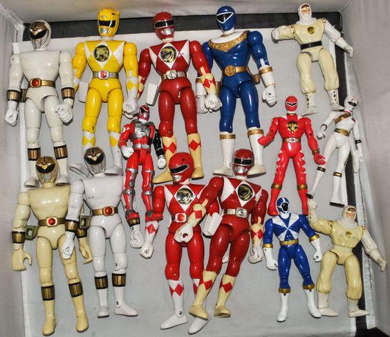 14 Assorted Power Rangers Action Figures